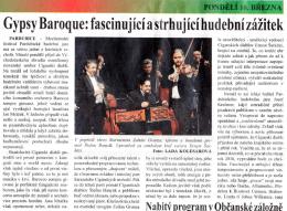 Gypsy Baroque: fascinující a strhující hudební zážitek