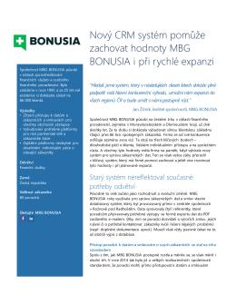Kompletní případová studie MBG Bonusia