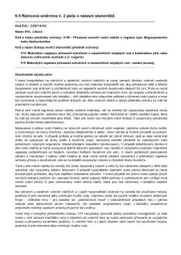 6.5 Rámcová směrnice č. 2 péče o nelesní stanoviště