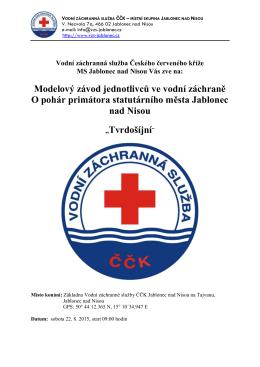 Vážení sportovní přátelé, - Vodní záchranná služba ČČK Těrlicko
