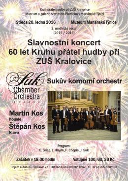 Slavnostní koncert 60 let Kruhu přátel hudby při ZUŠ Kralovice