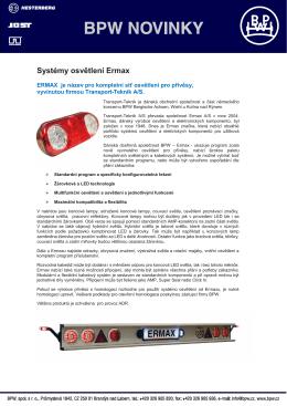 Systémy osvětlení Ermax