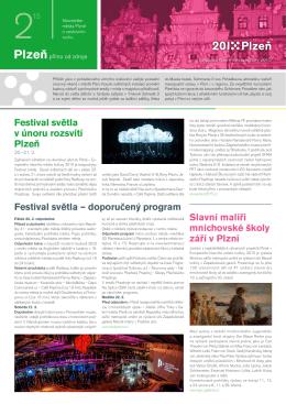 Festival světla v únoru rozsvítí Plzeň Festival světla