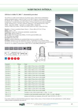 Katalog svítidel