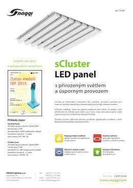 Produktový list sCluster