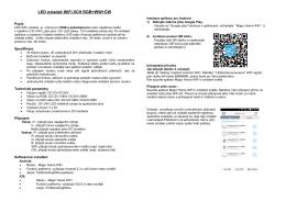 LED ovladač WiFi-5CH RGB+WW+CW - T