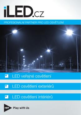LED veřejné osvětlení LED osvětlení exteriérů LED