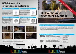 LED venkovní a orientační osvětlení