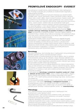 Průmyslové endoskopy