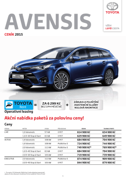 AVENSIS - Toyota Financial Services