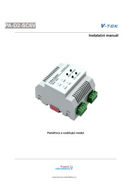 Instalační manuál k PA-D2-SC6V - Domovní telefony a videotelefony