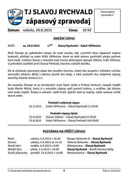 Zápasový zpravodaj č. 2-2015/16