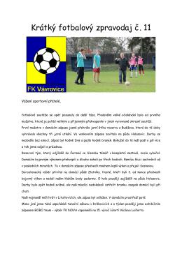 Krátký fotbalový zpravodaj11