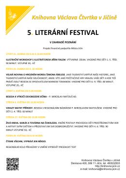 5. LITERÁRNÍ FESTIVAL