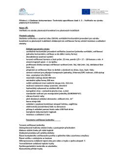 Příloha ZD 04 Technická specifikace Vstřikolis Konektory