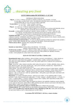 LETNÍ TÁBOR střediska ŠÍP NEŠTĚMICE 4.7.