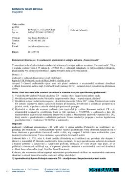 Statutární město Ostrava magistrát - Profil Zadavatele
