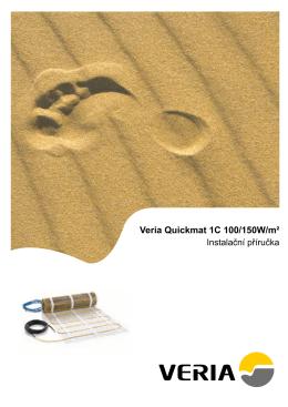 Instalační návod – Veria Quickmat, jednožilový vodič