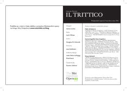 Il TrITTIco - Metropolitan opera