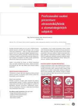 Profesionální osobní prezentace zdravotníků/klinik a