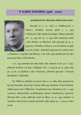 P. KAREL ŠAMÁREK (1908 – 2000)