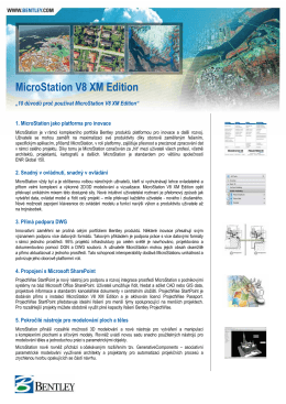 MicroStation V8 XM Edition - ASC Applied Software Consultants, s.r.o.