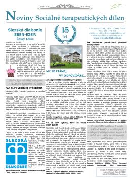 novinových listů - Slezská diakonie