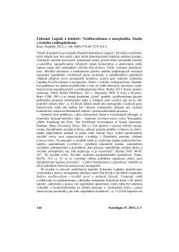Sociológia 47, 2015, č. 1