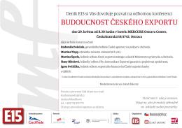 BUDOUCNOST ČESKÉHO EXPORTU