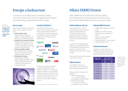 Energie a budoucnost Allianz ENERGYinvest
