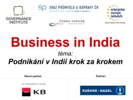 Podnikání v Indii krok za krokem