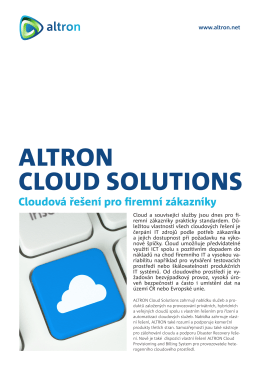 Přehled Altron Cloud Solutions