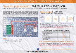 Stavební připravenost - X-LIGHT RGB + X