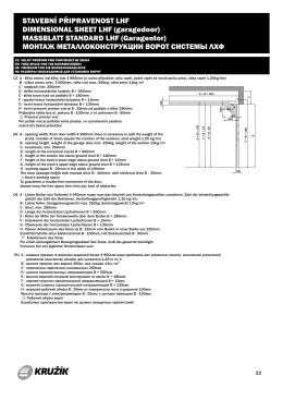 Stavební připravenost - kování pro garážová vrata LHF