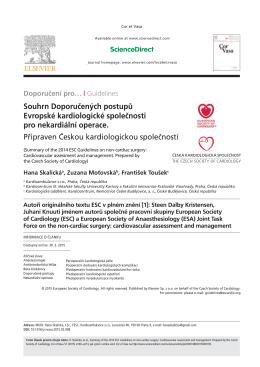 stáhnout českou verzi - Česká kardiologická společnost