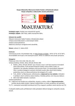 Rozpis Oblastního Mistrovství štafet Pražské a