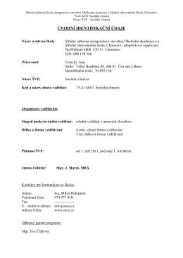 anotace (*pdf) - Střední škola ESOZ Chomutov
