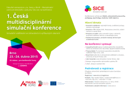 1. Česká multidisciplinární simulační konference