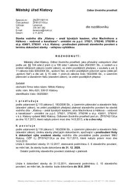 KlATOVY - Machníkova, Hálkova