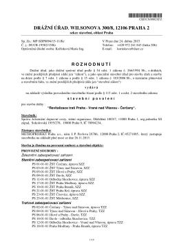 Veřejná vyhláška drážního úřadu