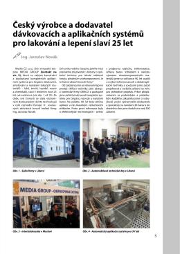 Český výrobce a dodavatel dávkovacích a aplikačních systémů pro