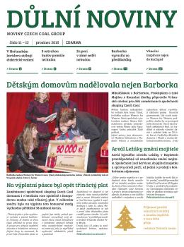 Důlní noviny ročník XVIII číslo 11-12