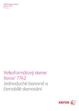 Velkoformátový skener Xerox® 7742 Jednoduché barevné