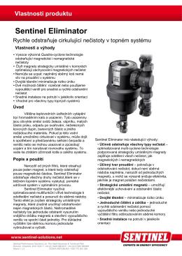 Vlastnosti produktu Sentinel Eliminator