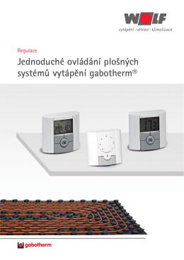 Bezdrátová regulace pro systém gabotherm