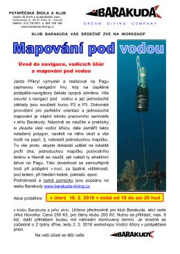 Úvod do navigace a mapování pod vodou
