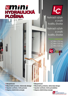 HYDRAULICKÁ PLOŠINA - Lift Components sro