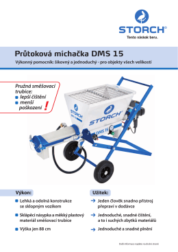 Prospekt produktu 643400 DMS 15