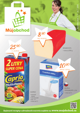 Zajímavé recepty z aktuálních surovin najdete na www.mujobchod.cz