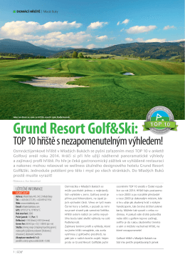Časopis Golf 2015 - Grund Resort Golf & Ski